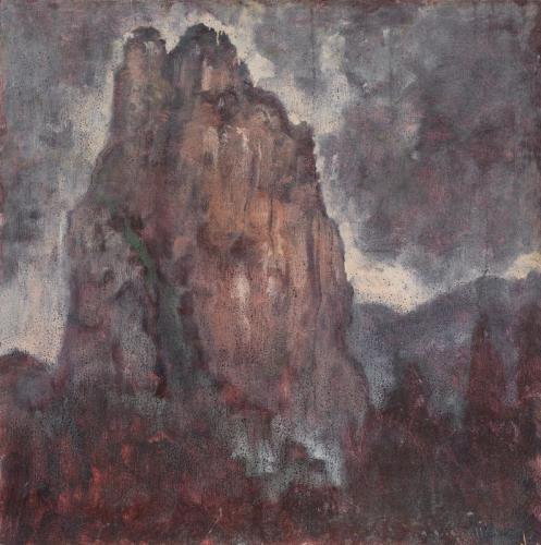 André Boubounelle le rocher de shiweiyan 65x65