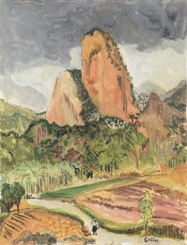 Clémentine Odier Le rocher shiwei II 54x64