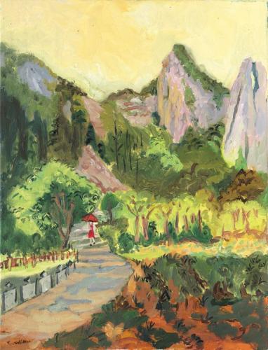 Clémentine Odier La montagne de l'âme II 49x64