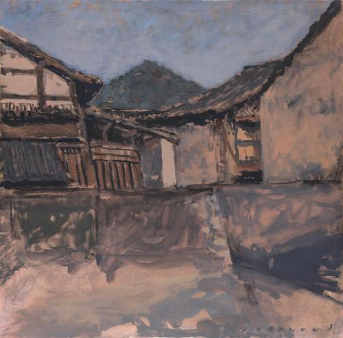 Jean-Daniel Bouvard Le village ancien 65x65