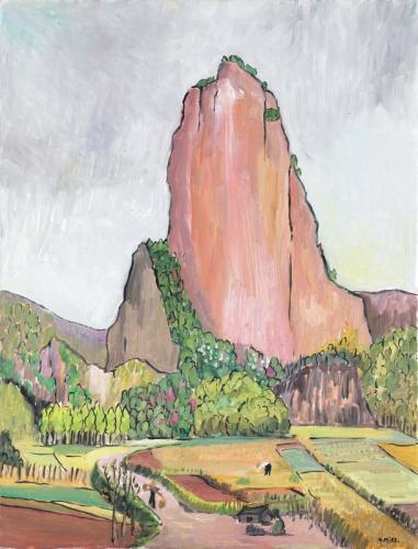 Natalie Miel Le rocher du Nanxijiang 65x50