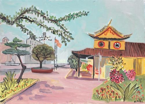 Natalie Miel Promenade sur l'ile Jiangxinyu 47x65