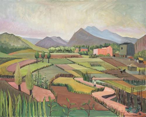 Natalie Miel Le village de shangrichuan 100x80