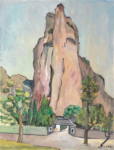 Natalie Miel Le sacre au coeur du rocher 65x50