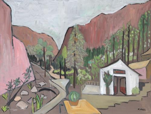 Natalie Miel Dans les montagnes 65.5x50