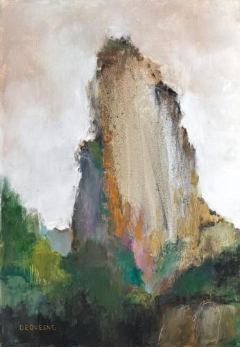 Philippe Dequesne La légèreté du rocher sacré 65x45