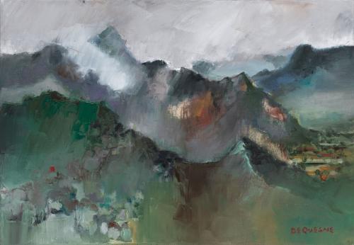 Philippe Dequesne Esprit et montagne 90x61
