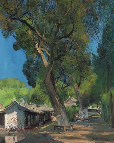 Zhu Sha Vieux cyprès vieux chemin