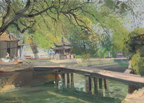 Zhu Sha Le Pont à l'eau limpide